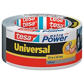 Universaltape tesa® Extra Power, silber, 25 m