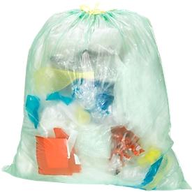 Universele afvalzakken met treksluiting HDPE, 60 liter, 480 stuks
