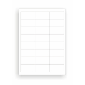 Universele etiketten, 64,6 x 33,8 mm, permanentklever 2400 stuks