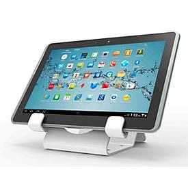 Universele tablethouder Compulocks, horizontale montage, met zekeringskabel, aluminium, wit