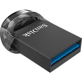 USB Flash station SanDisk Ultra Fit USB 3.1, compatibel met USB 2.0/3.0, wachtwoordbeveiliging, 128 GB
