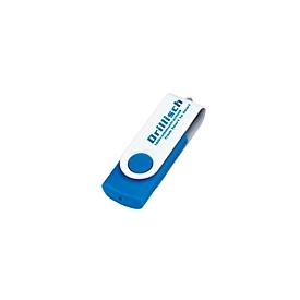 USB-Stick, 4GB, Hellblau, Standard, Auswahl Werbeanbringung optional