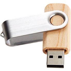 USB-stick C5 maple 3.0, tot 4.8 GB/s, duplexibel, recyclebaar, opslagcapaciteit 32 GB