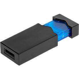 USB-Stick Clickmie, schwarz-blau, mit Sprungfedertechnik, USB 2.0 Schnittstelle, 8 GB