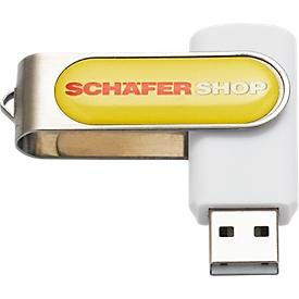 USB-Stick Doming, weiß, 4 GB