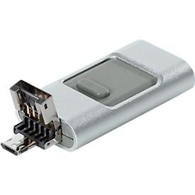 USB-Stick OTG silber/grau, 8 GB