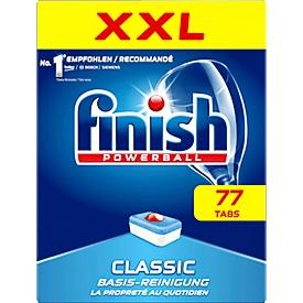 Vaatwastabletten Finish Powerball Classic XXL, met actieve ingrediënten voor het inweken & de mogelijkheid om zelfs theevlekken te verwijderen, 77 stuks in kartonnen doos