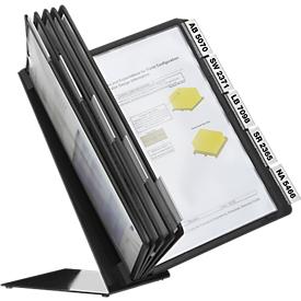 Vario tablets 10 expositores de mesa metálicos, con 10 tableros de exposición
