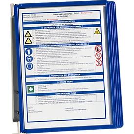 VARIO® WALL 5 Wandhalter-SET ink. Sichttafeln, blau