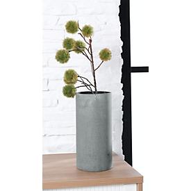 Vase Blomus COLUNA, zylinderförmig, ø 140 x H 290 mm, Polyresin, mit Filzpad, dunkelgrau