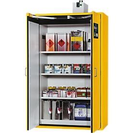 Veiligheidskast type 90 Asecos, brandwerendheid DIN EN 14470-1/DIN EN 14727, B 1196 x D 616 x H 1968 mm, veiligheidsgeel RAL 1004