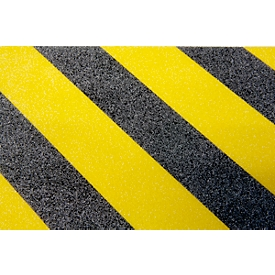 Veiligheidsmarkering, voor buiten, 25 mm x 25 m, 1 rol, zwart/geel