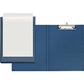 VELOFLEX® Klemmmappe, DIN A4, Kunststoff, mit Hängeöse, mit Einstecktasche, blau