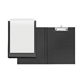 VELOFLEX® Klemmmappe, DIN A4, Kunststoff, mit Hängeöse, mit Einstecktasche, schwarz