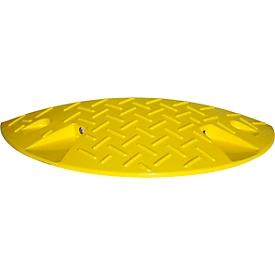 Verkeersdrempel, eindstuk <10 km/h, geel