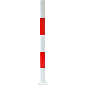 Verkeerspalen voor deuvelmontage, zonder ogen, wit/rood
