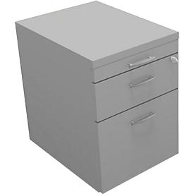 Verrijdbaar ladeblok ARLON-OFFICE, B 420 x D 560 x H 585 mm, lichtgrijs