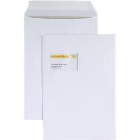 Versandtasche, C4, Papprückwand und Haftklebung, mit Fenster, weiß, 125 St.