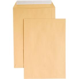 Versandtaschen, ohne Fenster, haftklebend, 110 g/m², DIN C4, 250 Stück, natronbraun