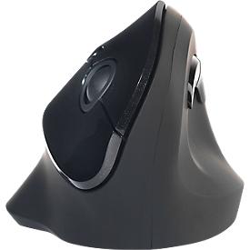 Verticale muis BakkerElkhuizen PRF, draadloos, ergonomisch, tot 20 m, opbergruimte voor ontvanger, zwart