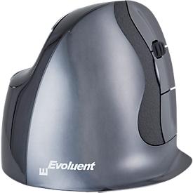 Vertikalmaus BakkerElkhuizen Evoluent D wireless, ergonomisch, USB, 5 Tasten inkl. Scrollrad, verchromt