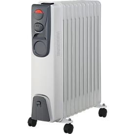 Verwarmingstoestel thermo-olie-radiator, 11 ribben, vermogen 2000 watt