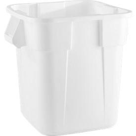 Vierkant afvalbak Brute Rubbermaid, 105 liter, 550 mm, 105 l, wit