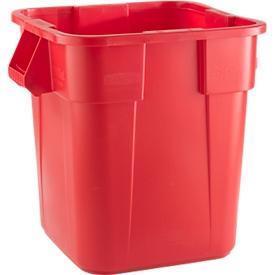 Vierkant afvalbak Brute Rubbermaid, 105 liter, 550 mm, rood