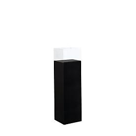 Vitrina de presentación de pie, columna, An 250 x P 180 x Al 850mm, negro
