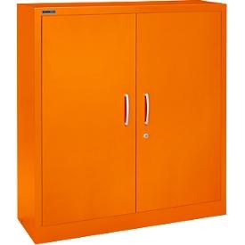 Vleugeldeurkast MS iCOLOUR, staal, 3 ordnerhoogten, B 1200 mm, oranje RAL 2004