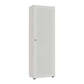 Vleugeldeurkasten 1-deurs, blank aluminium