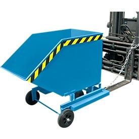 Volquete con ruedas tipo KW-ET 1000, azul