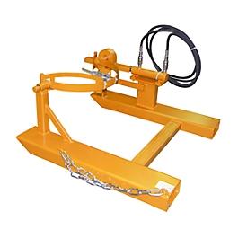 Volteador de barriles BAUER FD-H con cilindro elevador, acero, An 1000 x P 1245 x Al 475mm, naranja