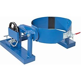 Volteador de barriles para barriles de 200 l, con cadena continua, capacidad de carga 300kg