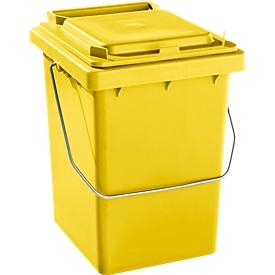 Voorsorteeremmer Mülli, B 175 x D 195 x H 300 mm, 10 liter, geel