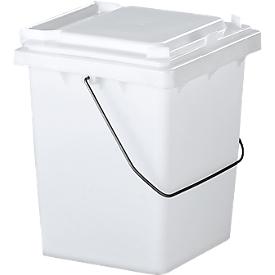 Voorsorteeremmer Mülli, B 175 x D 195 x H 300 mm, 10 liter, groen