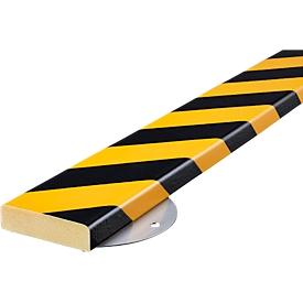 Wall Protection Kit, type S, 1 m/stuk, geel/zwart
