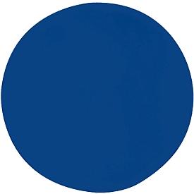 Wandabsorber Kreis, Ø 1000 mm, Polyestervlies in Filzoptik, blau