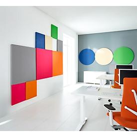 Wandabsorber Quadrat, B 500 x H 500 mm, Polyestervlies in Filzoptik, Elfenbein