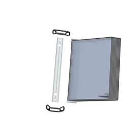 Wandelement Tarifold PRO, mit 10 Tafeln, DIN A4, magnet. Befestigungssystem, Metalldrehzapfen