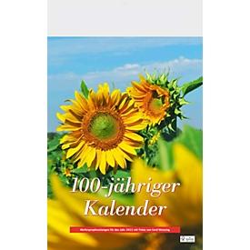 Wandkalender 100-jähriger Kalender, mit 12 Wetterprophezeiungen, B 300 x H 390 mm, Werbedruck 280 x 40 mm, Auswahl Werbeanbringung erforderlich