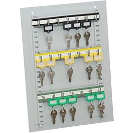 Wandpaneel voor sleutelkast, met 21 haken