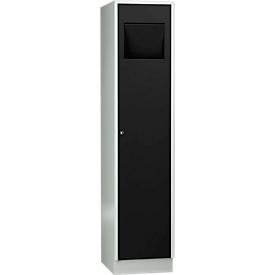 Wasgoedkast, compartimentbreedte aan de binnenzijde 400 mm, afsluitbaar, zelfsluitende klep,