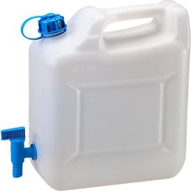 Wasser-Kanister ECO, mit Hahn, 10 l, natur