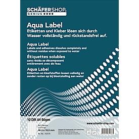 Wasserlösliche Etiketten 70,0 x 38,1 mm