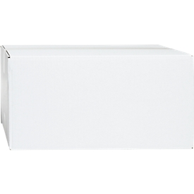 Weiße Wellpapp-Faltkartons, 1-wellig, 400 x 300 x 200 mm