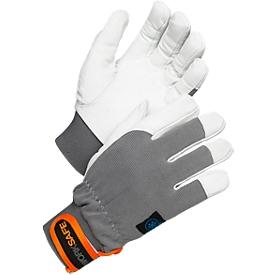 Werkhandschoenen Worksafe A10-112W, CE Cat 1, geitenleer/polyester/spandex, maat 9, 12 paar