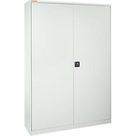 Werkplaatskast XL120 met 40 bakken LF531, lichtgrijs RAL 7035/lichtgrijs RAL 7035