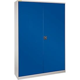 Werkplaatskast XL616 met 77 bakken RK421, blank aluminium RAL 9006/gentiaanblauw RAL 5010
