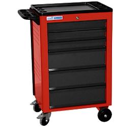 Werkplaatswagen BASIC, 6 schuifladen, rood